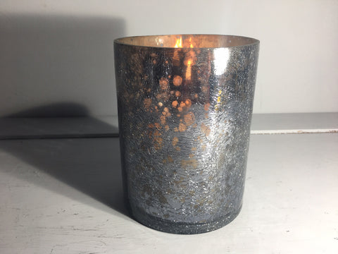 Sparkle Votive Candle Holder Large Grey Crackle - Shruti