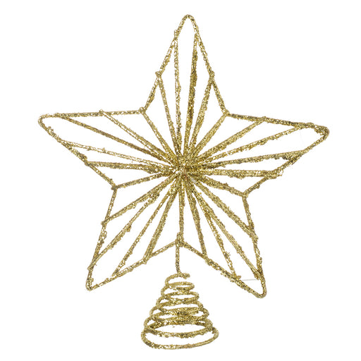 Gold Star Christmas Tree Topper