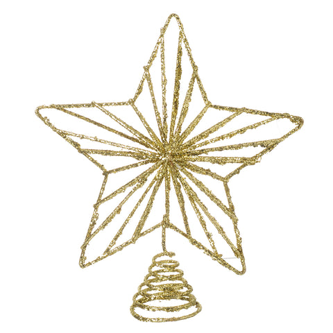 Gold Tree Topper - Glitter Christmas Tree Star