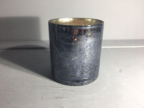 Sparkle Votive Candle Holder Medium Grey Crackle - Shruti