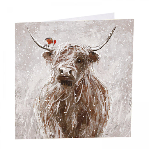 Highland Cow Christmas Cards - Christmas Mira-Coo - Pack of 6
