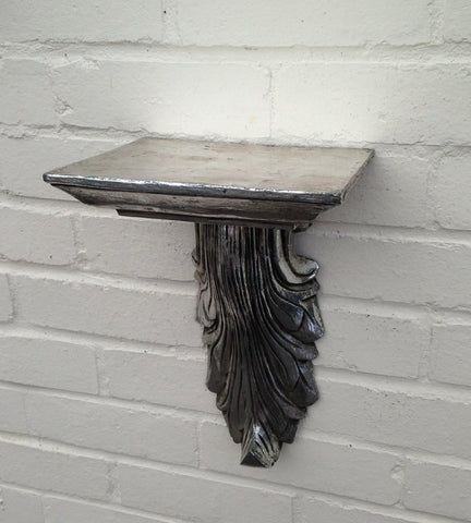 Antique Silver Plinth - Small Silver Wall Plinth