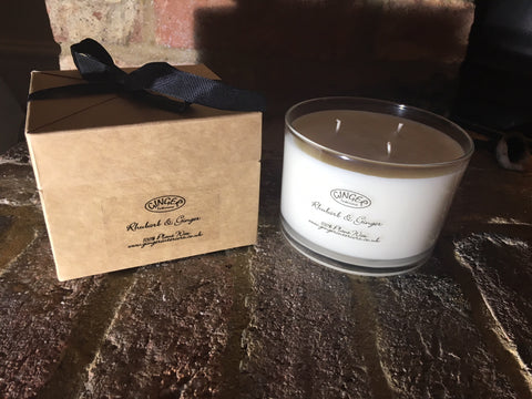Scented Candle 3 Wick - Kitchen - Rhubarb & Ginger