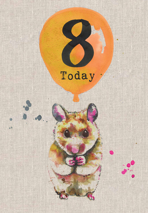 8 Today - Childrens Birthday Card - Sarah Kelleher