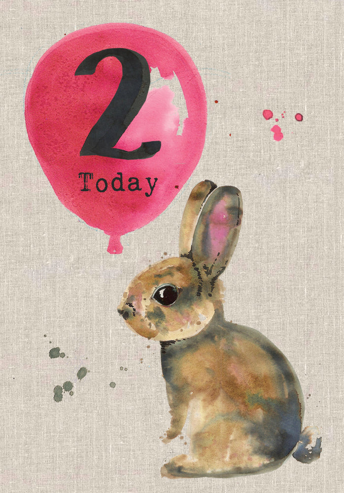 2  Today - Baby Rabbit Birthday Card - Sarah Kelleher