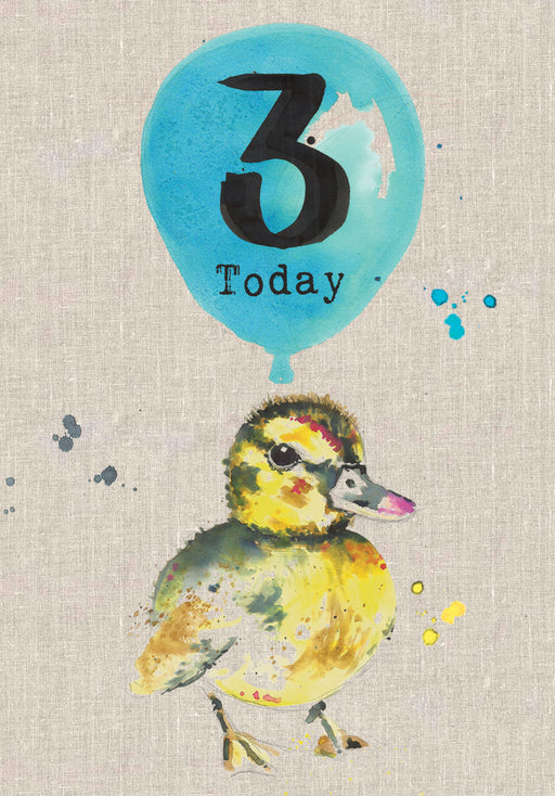 3 Today - Baby Duckling Birthday Card - Sarah Kelleher