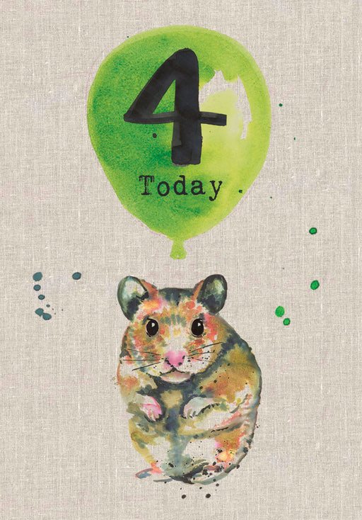 4 Today - Childrens Birthday Card - Sarah Kelleher