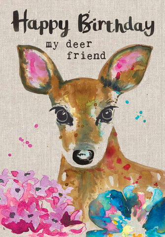 Deer Birthday Card - My Deer Friend - Sarah Kelleher