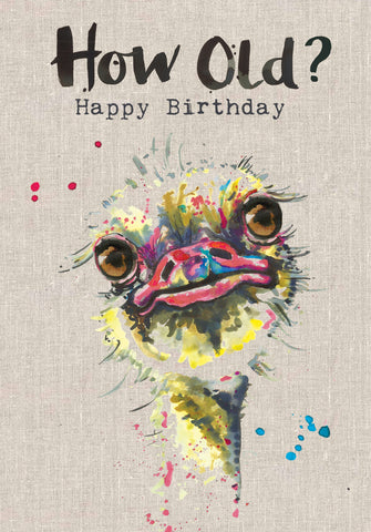 Bird Birthday Card - How Old? - Sarah Kelleher