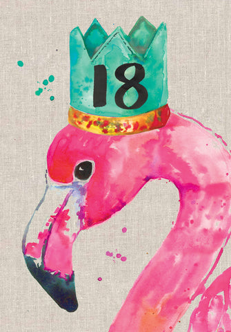 18th Birthday Card - Flamingo - Sarah Kelleher