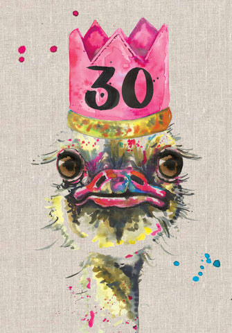 30th Birthday Card - Bird - Sarah Kelleher