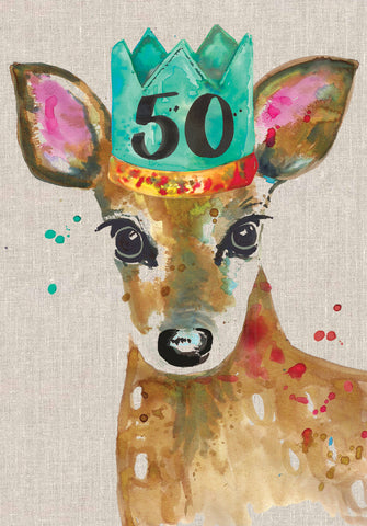 50th Birthday Card - Deer - Sarah Kelleher