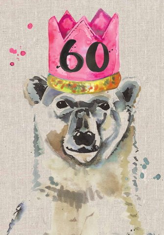 60th Birthday Card - Bear - Sarah Kelleher