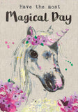 Unicorn Birthday Card - Magical Day - Sarah Kelleher