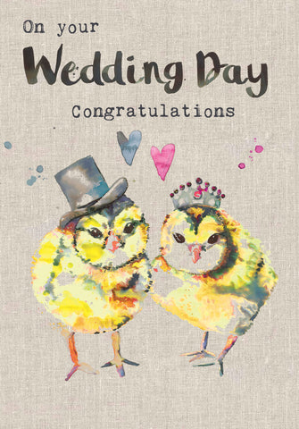 Wedding Congratulations Card - Chicks - Sarah Kelleher