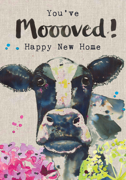 New Home Card - You've Mooved! - Sarah Kelleher
