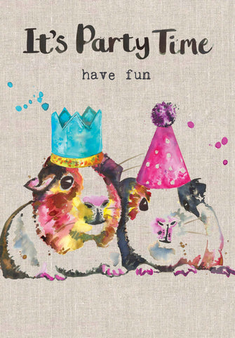 Hamster Card - Its Party Time Have Fun - Sarah Kelleher