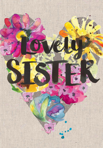 Lovely Sister Card - Sarah Kelleher