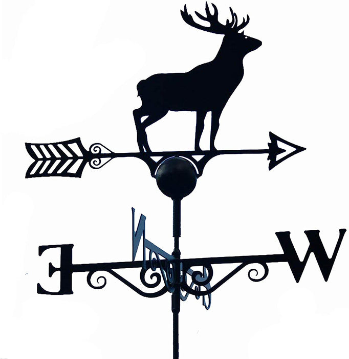 Stag Weathervane - UK Made Solid Steel