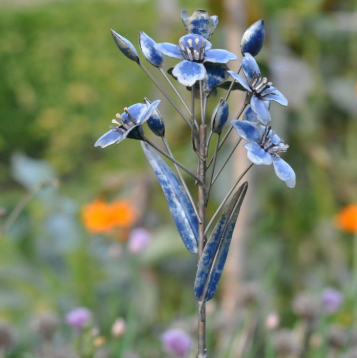 Garden Flower Stake - Blue Orchid Flower Stem