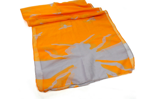 Bee Silhouette Scarf - Colourful Summer Scarf