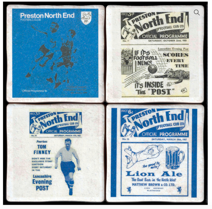 Football Memorabilia Coasters - All Teams A-S