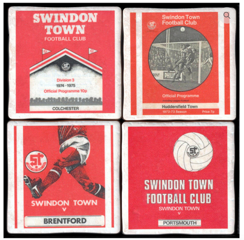 Football Memorabilia Coasters - All Teams S-Z