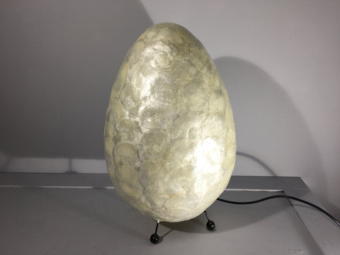 Shell Egg Lamp Ivory