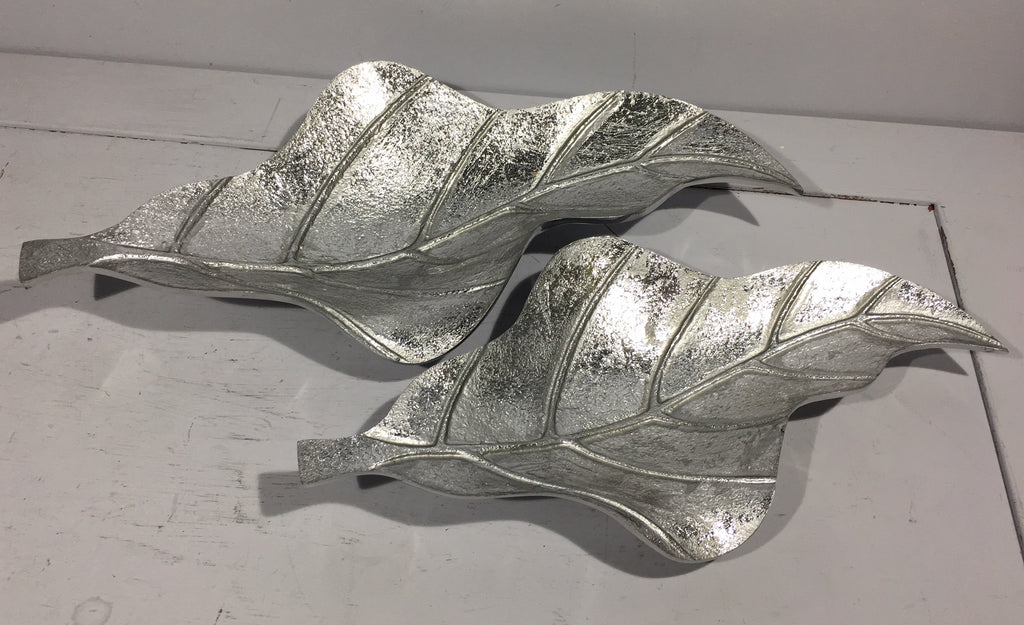 Metallic Leaf Dish Set of 2