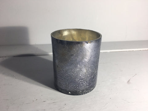 Sparkle Votive Candle Holder Small Grey Crackle - Shruti