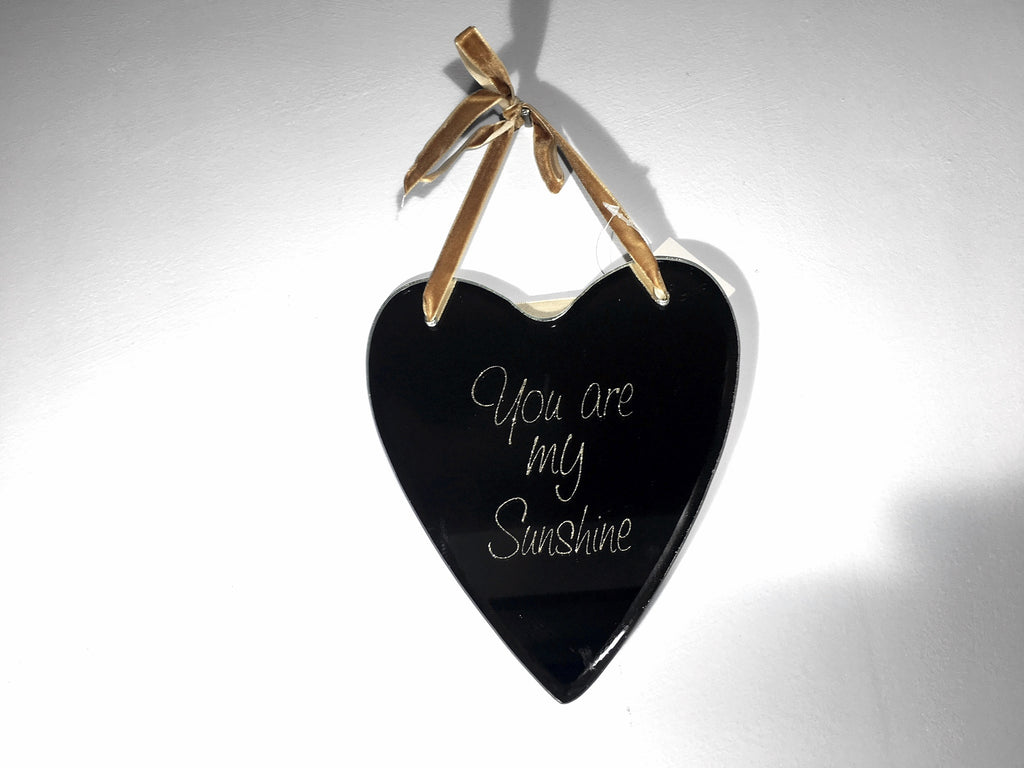 Mini Hanging Heart Mirror - You Are My Sunshine