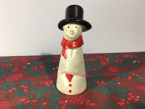 Tall Snowman Small Natural Soapstone Ornament - 12cm