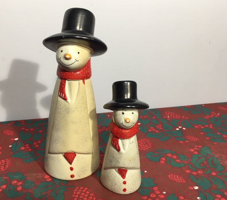 Natural Soapstone Snowman Ornaments