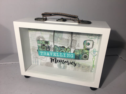 Suitcase Shaped Money and Momento Box - My Around the World Travelling Fund