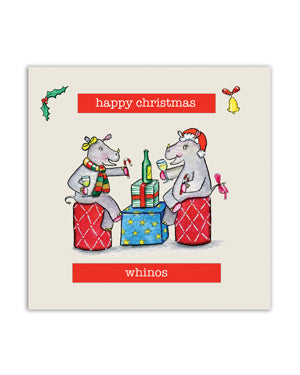 Rhino Christmas Card - Whinos