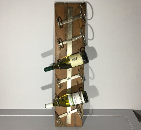 Drift Wood 6 Bottle Wall Wine Rack
