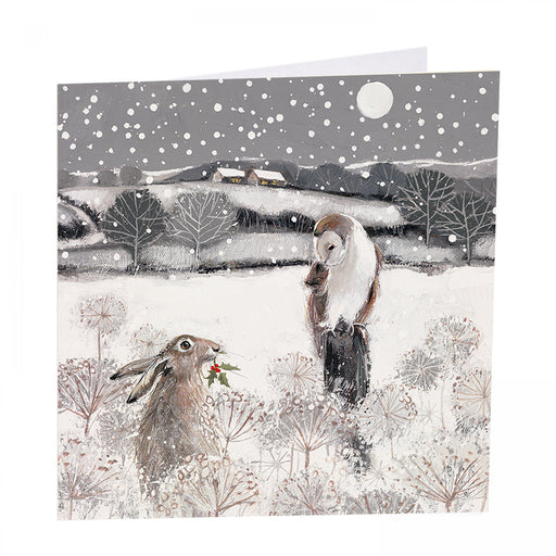 Hare Christmas Cards - Winter Wonderland - Pack of 6