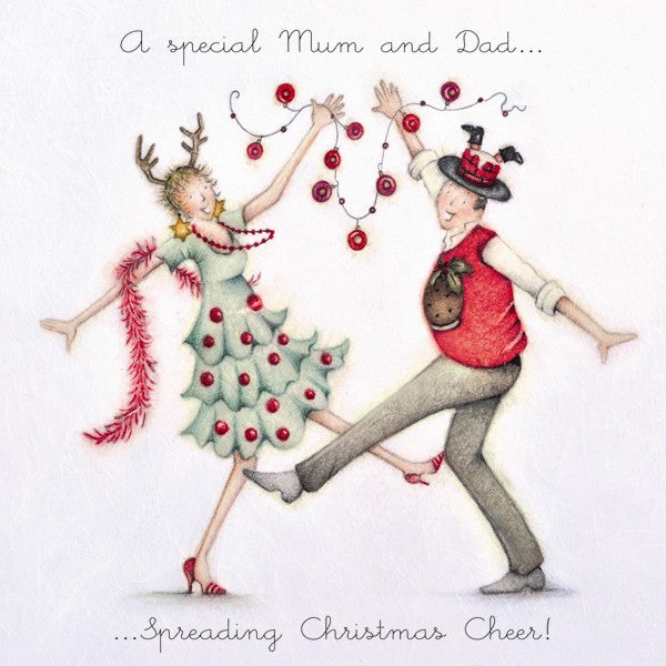 Christmas Card - A Special Mum and Dad - Berni Parker
