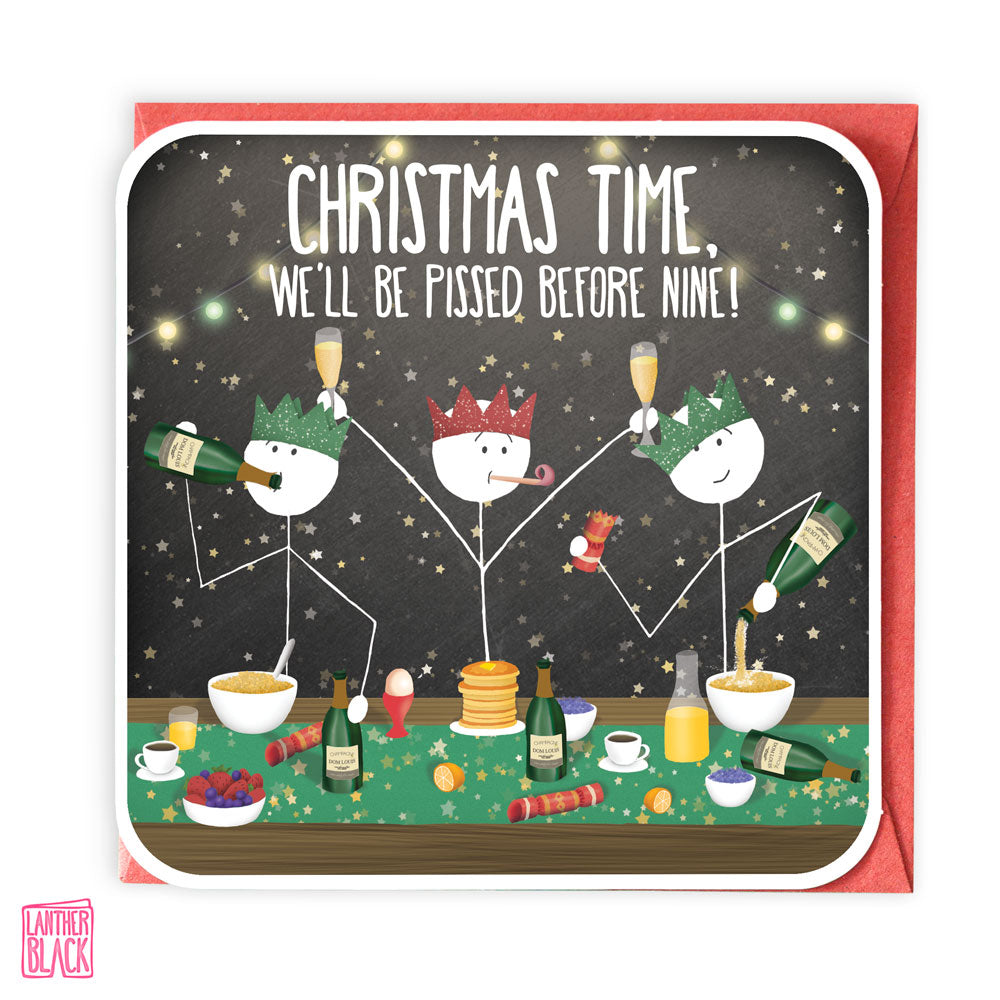 Christmas Time - Fun Christmas Card from Lanther Black
