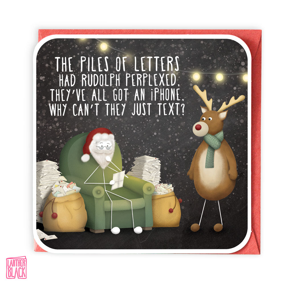 Why can't they text? - Fun Christmas Card from Lanther Black
