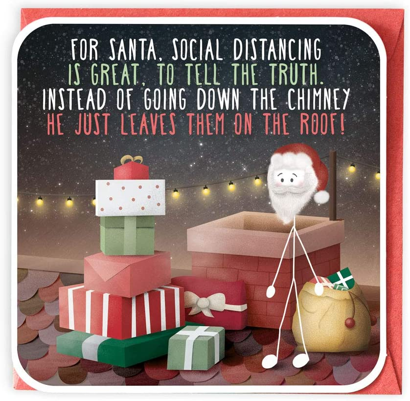For Santa, Social Distancing Is Great...  Fun Christmas Card from Lanther Black