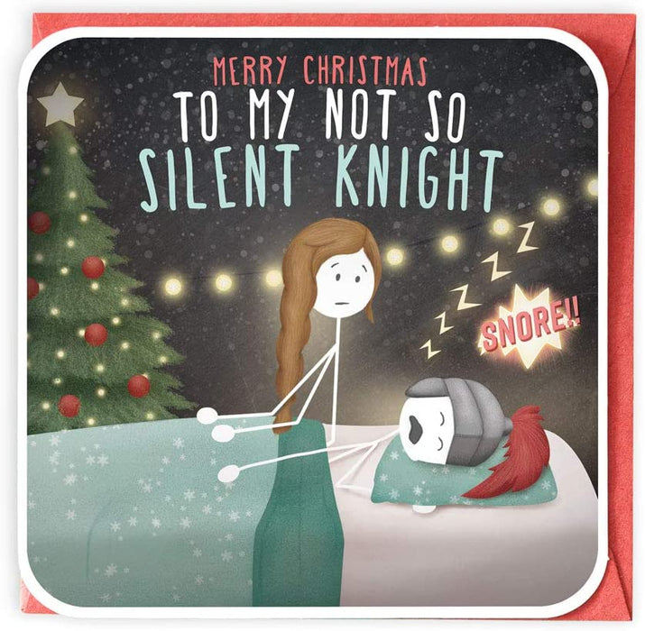 Merry Christmas To my Not So Silent Knight...  Fun Christmas Card from Lanther Black