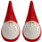 Santa Salt And Pepper Pots - Pointy Hat
