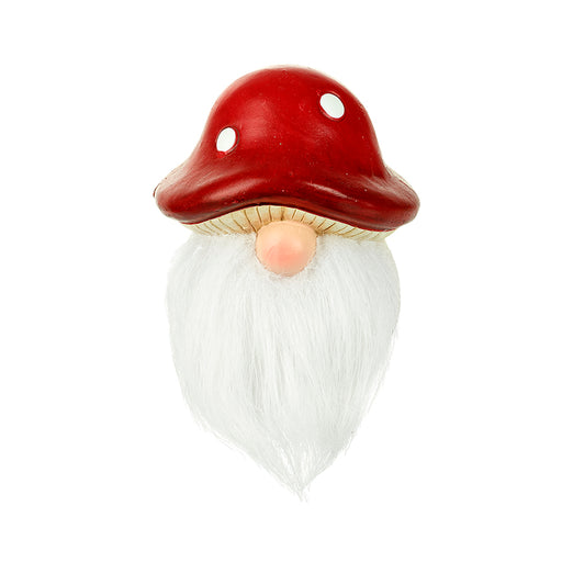 Santa Gonk Ceramic Figure with Red Toadstool Hat
