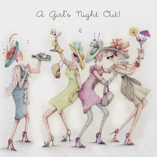 Greeting Card - A Girls Night Out !  Berni Parker