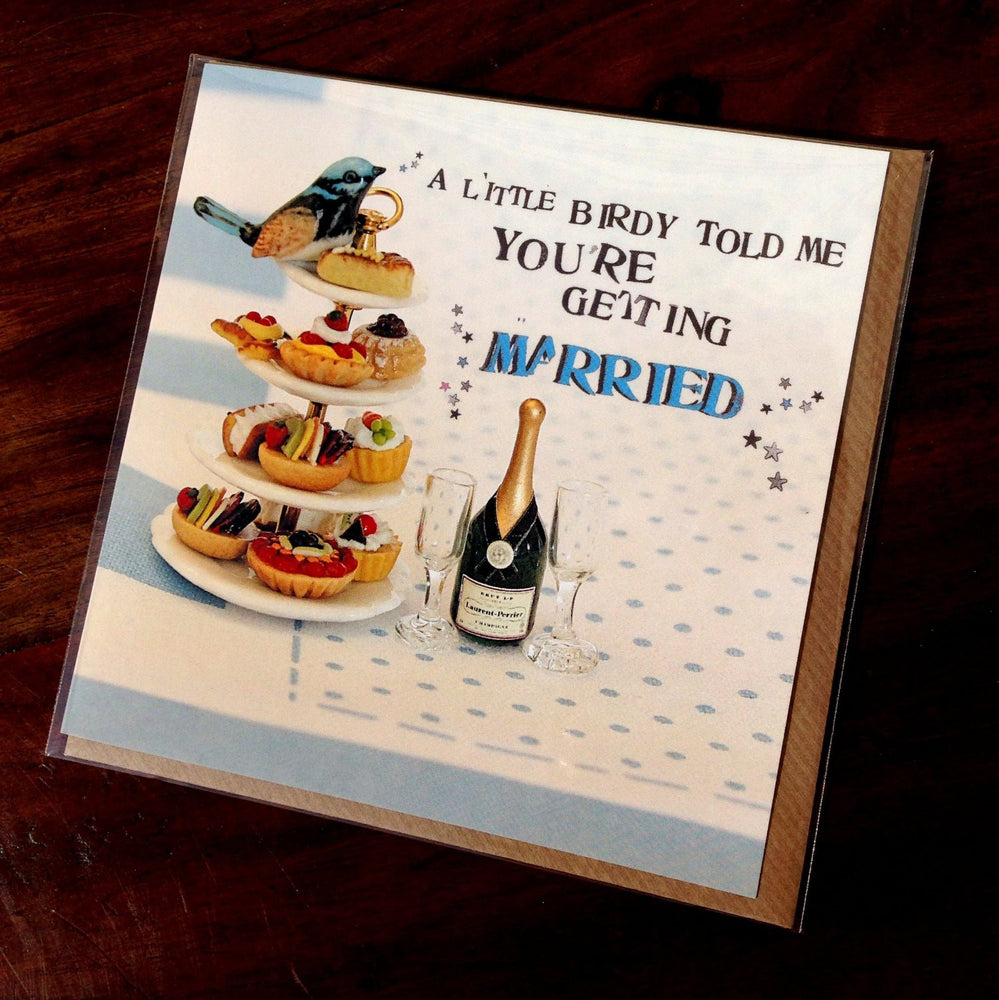 Wedding Card - A LITTLE BIRDY TOLD ME YOU'RE GET