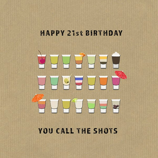 21st Birthday Card - You Call The Shots, From Sally Scaffardi Design