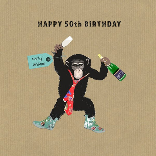 50th Birthday Card - Party Animal From Sally Scaffardi Design
