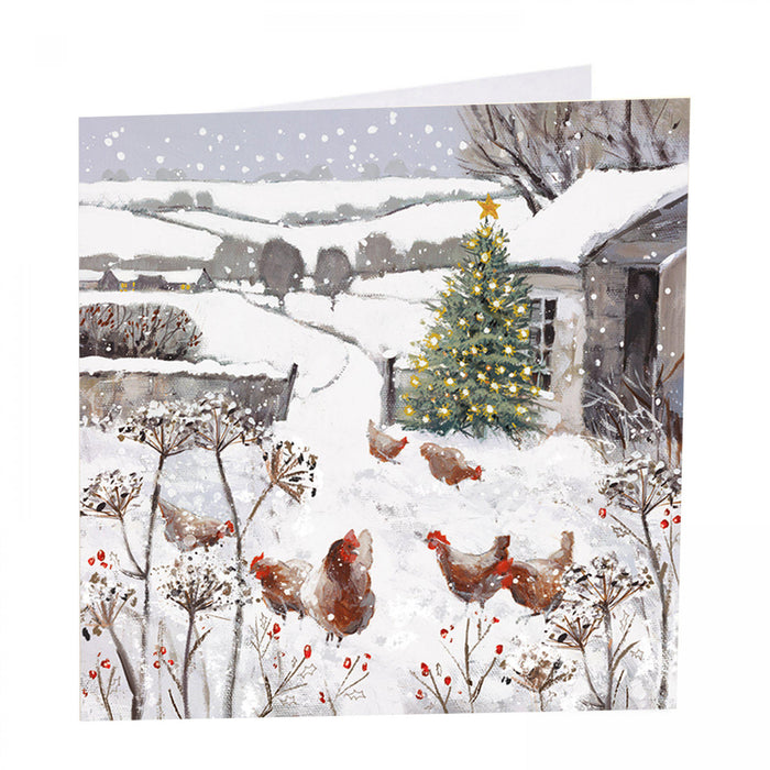 Chicken Christmas Cards - All is bright - Pack of 6