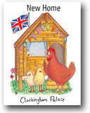New Home Card - Cluckingham Palace